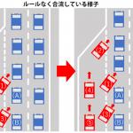 年末年始の渋滞をさせないために、ジッパー合流を法律で決めてくれ